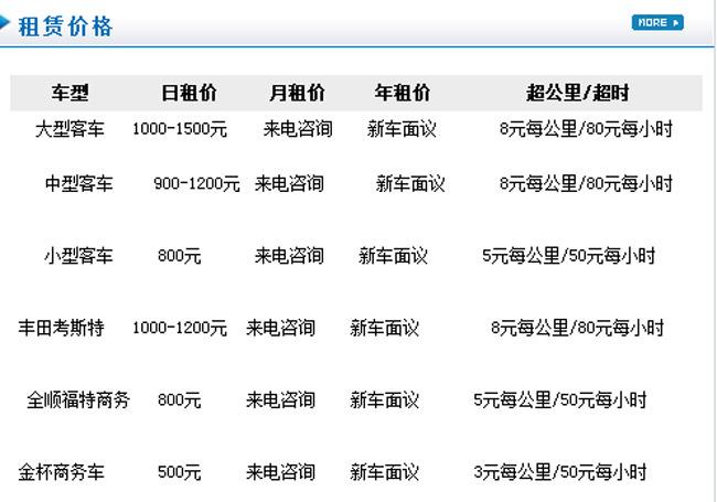 北京企业用车价格